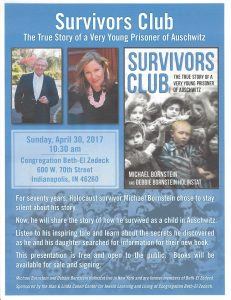 Survivors Club @ Congregation Beth- El Zedeck | Indianapolis | Indiana | United States
