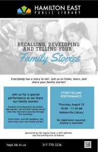 Special Storytelling Performance @ Hamilton East Public Library in Noblesville | Noblesville | Indiana | United States